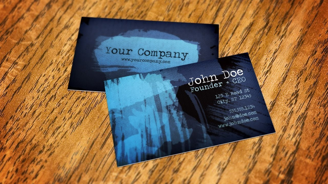 A quick way to Create Business Card Mockups